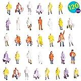 120 Figuras de tren de colores - Juguete adicional perfecto para modelar diseños de trenes o casas de muñecas en miniatura - Actividades de interior para artes y manualidades para niños