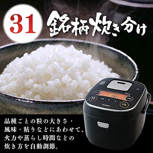 『アイリスオーヤマ IH炊飯器 一升 10合 IH式 31銘柄炊き分け機能 極厚火釜 玄米 IH式 ブラック RC-IE10-B』の3枚目の画像