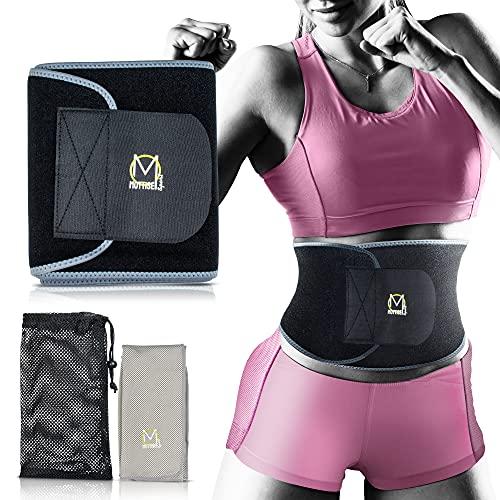 Mottise Sport Faja Reductora Mujer, Faja Deportiva de Neopreno, Faja Lumbar, Cinturón Lumbar Abdominal, Incluye: Toalla
