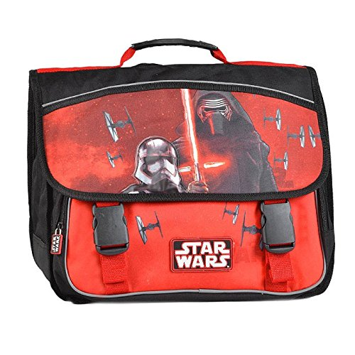Cartable 41 cm STAR WARS The Force Awakens 2 Compartiments Rouge