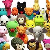 20 piezas de colección Animal Animales adorables gomas de borrar para la diversión y los juegos de los niños (Random...