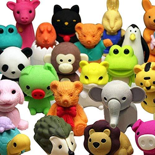 Naisicatar 20pcs Animal de colección Conjunto de Azar Adorable Animal