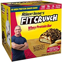 FITCRUNCH Snack Size Protein Bars | Designed by Robert Irvine | World's Only 6-Layer Baked Bar | Just 3g of Sugar & Soft C...