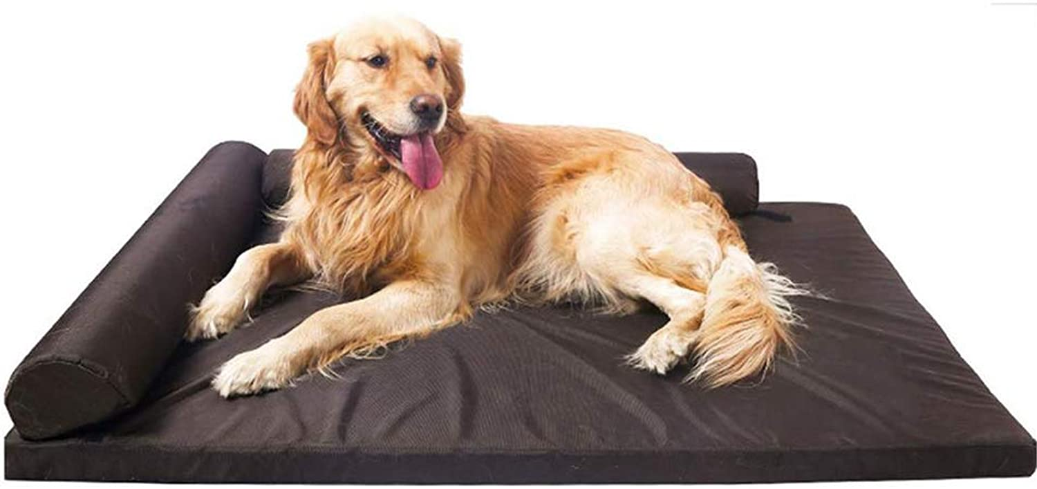Orthopedic Memory Foam Waterproof Dog Bed,Washable Cover, Eases Pet Arthritis Shaped Lounge Sofa Pet Bed for Dogs & Cats,L(95  75  13cm)