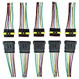 ZYTC 6 Pin Way Car Waterproof Wire Connector Plug Auto Electrical Wire Connectors AWG Terminal Pack of 5
