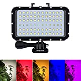 <span class='highlight'><span class='highlight'>Suptig</span></span> Video Lighting Dive Light Underwater Lights 72 Led Lights Compatible For Gopro Canon Nikon Pentax Panasonic Sony Samsung SLR Cameras 5 Kinds Of Illuminating Colors Waterproof 147ft(45m)