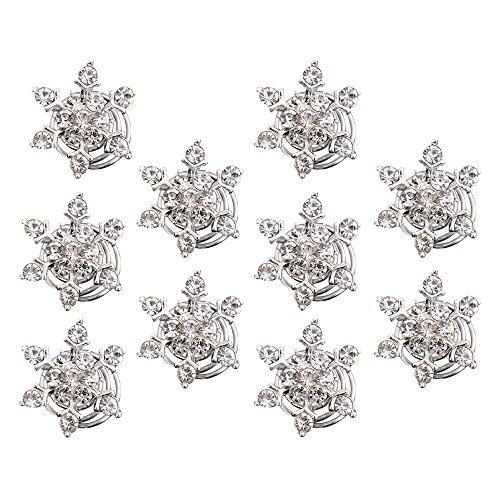 10 Stück Simulierten Kristall Schneeflocke Strudel Haar Verdreht Spulen Spiralen Haarspange Clip Zubehör für Hair Style