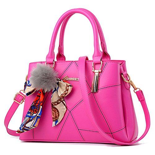 Henkeltasche Handtaschen Schulter Diagonal Tasche Beiläufige Handtaschen mit Schal Frauen Rose