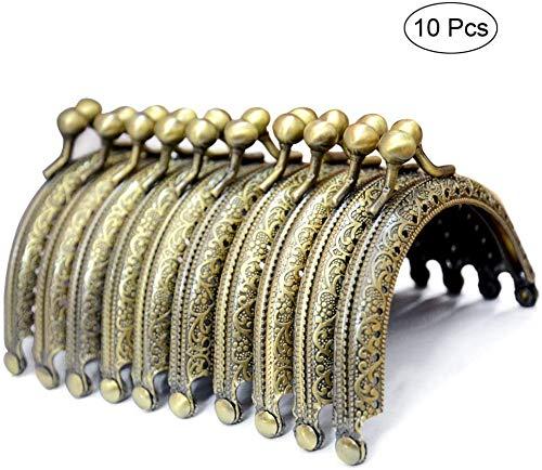 VADOO Metallbogen-Rahmen Kuss Haken Verschluss halbkreisförmige Geldbeutel Taschen Rahmen Verschluss Eisen Verschluss Bronze Ton Taschenbügel 10PCS
