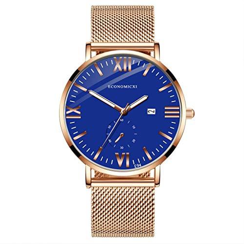 ChallengE Herren Uhren Mode wasserdichte Chronograph Quarz Uhr für Mode einfachen Edelstahl mit leuchtenden kleinen Zifferblatt Herren Quarzuhr