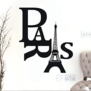Pegatinas De Pared Diy Paris Torre Eiffel Vinilo Impermeable Vinilos Decorativos Extraíbles Pegatinas De Arte Decoración Para El Hogar 40X52Cm