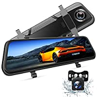 """Dual 1080P HD Camera - With upgraded chip technology, VanTop H609 mirror dash cam fulfills Ultra HD video resolution up to 1920*1080P@30fps for both front and rear view camera, presenting remarkable HD images and videos. Pro Display, Pro Design - 10""""..."""