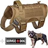 WYNEX Tactical Dog Vest Harness, Service Dog Training Hunting Vest with Handle, Working Dog Vest Easy Control for Small Medium Large Dogs Patch Included