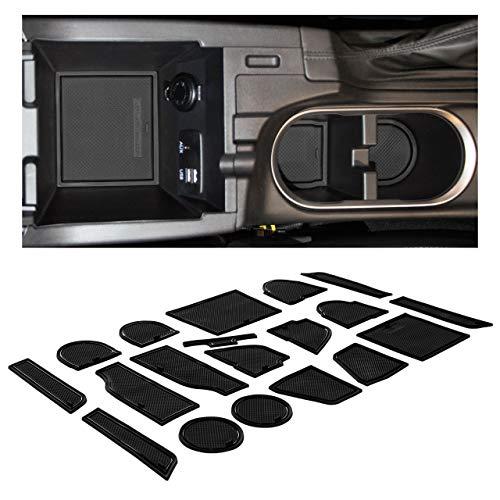 CupHolderHero fits Subaru Crosstrek 2018-2021 and fits Subaru Impreza 2017-2021 Accessories Interior Non-Slip Cup Holder Inserts, Center Console Liner Mats, Door Pocket 19-pc Set (Solid Black)