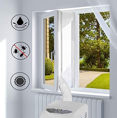 Ommda Fensterabdichtung für Mobile Klimageräte Fensterabdichtungsband Selbstklebend Wasserdicht Hot Airstop Klimaanlage für Abschluftschlauch,Weiß,500cm