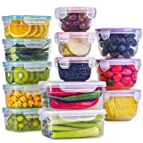 BAYCO [13 Pack] Food Storage Containers with Lids, Plastic Food Containers with Lids, Leak Proof...