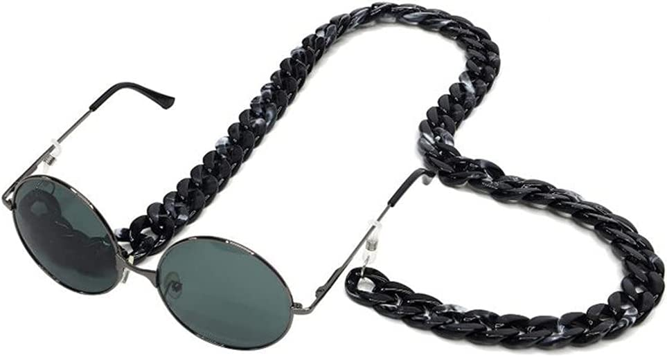ZYKBB Reading Glasses Hanging Neck Chain Glasses Chain Acrylic Sunglasses Chain Women Eyeglasses Strap (Color : D)