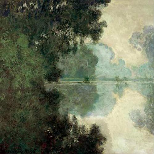 Monet Morgen op zijn schilderijen aan de muur Impressionistische landschap muurkunst canvas bedrukt foto's voor woonkamer 40 x 40 cm zonder lijst