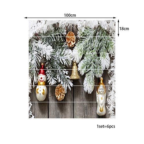 6 Trap Stickers Open haard Klassieke Trap Stickers_Kerstmis Warm Klassieke Trap Stickers