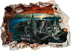 Hogwarts Castle Hole in Wall - Harry Potter 3D Art Printed Vinyl Sticker Decal (Large 600 x 425mm) #1