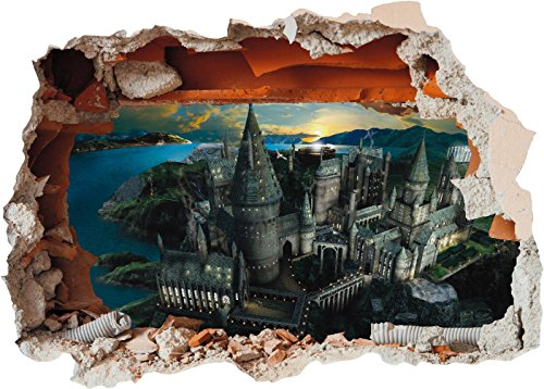 Hogwarts Castle Hole in Wall - Harry Potter 3D Art Printed Vinyl Sticker Decal (Large 600 x 425mm) steampunk buy now online