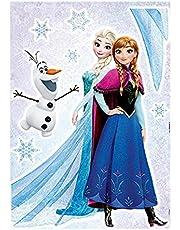 Komar - Disney - Deco-sticker FROZEN SISTERS - 50 x 70 cm - Muurtattoo, Muurstickers, muurfoto, ijskoningin, Elsa, Anna, Olaf - 14046h