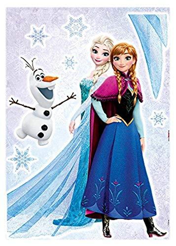 Komar 14046h Deco-Sticker Frozen Sisters, Bunt