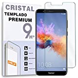 REY Protector de Pantalla para Huawei Honor 7X, Cristal Vidrio Templado Premium