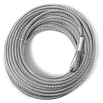 "Rugged Ridge 15103.51 Cable Winch 3/16"" x 50' UTV2500"
