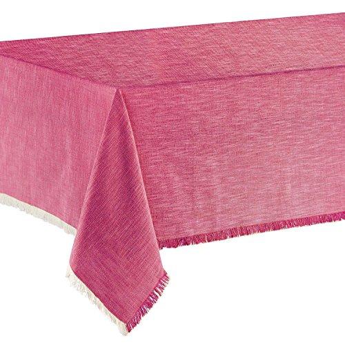 Winkler – Nappe de table jet – 100% coton – Tissu lavable, anti taches et déperlant – Finition frangée