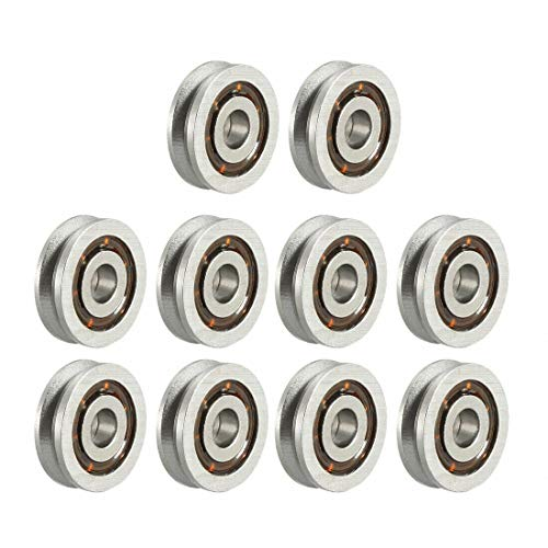 Bearings & Bushings V623 V-Groove Ball Bearing 3x10x3mm 623VV Guide Pulley Wheel Bearings 10pcs
