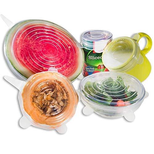 Kitchen Silicone Stretch Lids Magic Fresh Food Saver Storage...