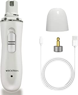 WECATION Dog Nail Grinder, Electric Paw Trimmer, Rechargeable Cat Grooming Clipper