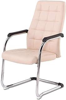 DBL Las sillas de oficina ejecutiva de piel reclinación Acolchonadas, escritorio de la computadora Chrome Pierna comedor uso Drawing Room multifunción Silla Sillón de oficina Las sillas de escritorio