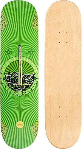 JUCKER HAWAII Skateboard/Cruiser Decks - Nuha, Bamboo, Skowl, B.Inks, Shabby, Malama Kai, Malama Aina, Valley Isle - Diverse Shapes und Designs (JUCKER HAWAII Skateboard/Cruiser Deck Valley ISLE 8.0)