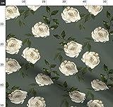 Tarnfarben, Rosen, Blumen, Olive, Taupe, Grün Stoffe -