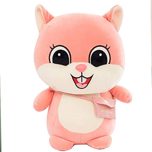 GJC Hug Pillow Plush Doll Toy Cute Soft Small Squirrel Kissen Kind Freund Geschenk,Rosa,50CM