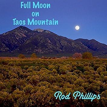 Full Moon on Taos Mountain