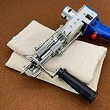 EUNEWR Paño de mechones primario,tela de monje para needle punch,Tela de respaldo para pistola de mechones de alfombra,Mezcla de algodón y poliéster,Tela de muselina con línea guía amarilla(1M*5M)