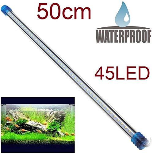 RESTAR luz para pecera Acuario 45 led 50cm lampara Tubo Sumergible