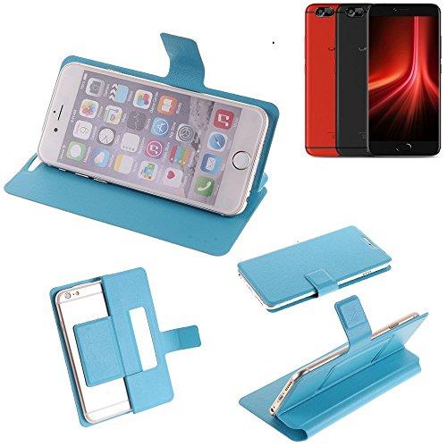 K-S-Trade® Flipcover Für UMIDIGI Z1 Pro Schutz Hülle Schutzhülle Flip Cover Handy Case Smartphone Handyhülle Blau