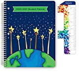 Dated Elementary Student Planner for Academic Year 2020-2021 (Matrix Style - 8.5'x11' - Reach for The Starts Cover) - Ruler/Bookmark and Planning Stickers