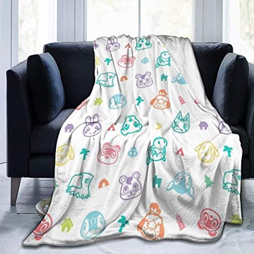 Cobijas de cama de micro flano sobrenatural de cruce de animales de lujo acogedor impreso mullido manta de felpa para sofá silla sala de estar