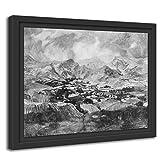 Printed Paintings Marco Americano (55x40cm): Ignacio Zuloaga - Montañas de Calatayud