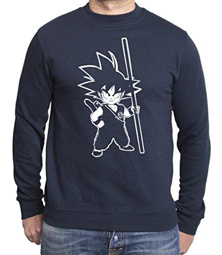 Son Goku Dragon Master Son Ball Sweat à capuche pour homme - Bleu - L