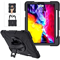 Military Grade iPad Pro 11 Case 2020 & 2018 with Apple Pencil Holder