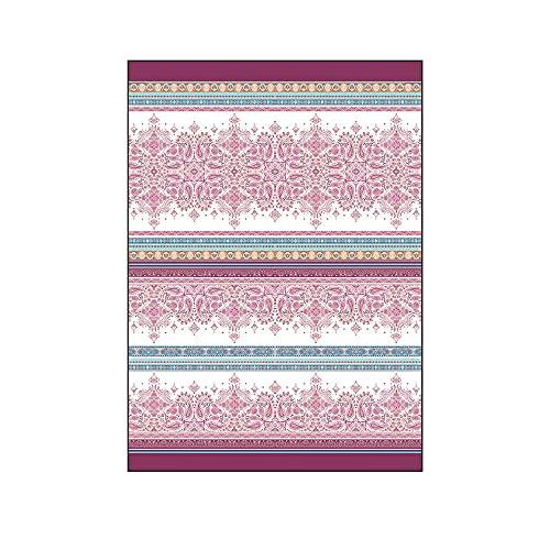 Novia - Tela decorativa para sofá, 260 x 260 cm   Gran foulard para sofá, cubresofá y multiusos (cubre sillones, colchas, cortinas, picnic)   grandes telas de algodón y poliéster – Karima Malva