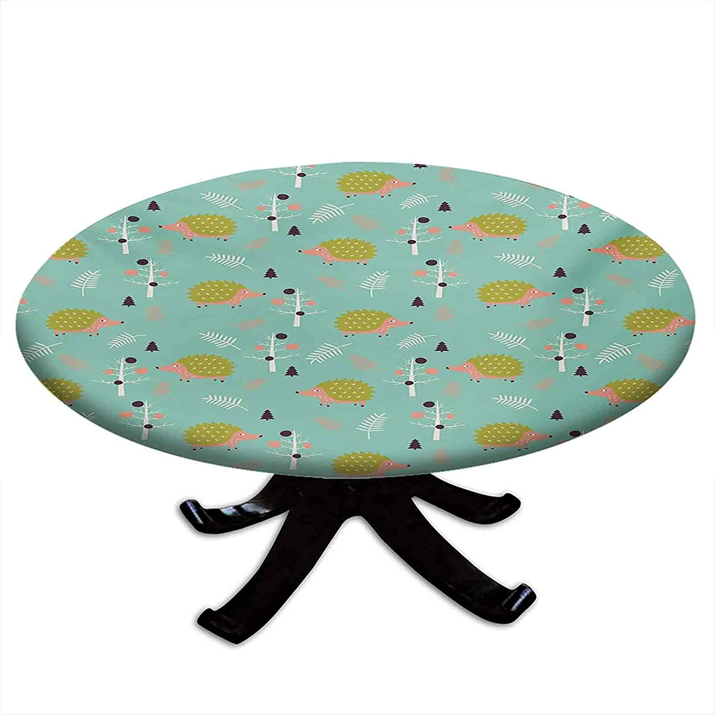 Round Tablecloth with Cheap sale Elastic Edges Nashville-Davidson Mall Fo Pattern Scandinavian Art