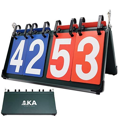 AKA Premium 4 Digit Sport Scoreboard/Portable-Tabletop-Flipper-Easy Flip Score Keeper