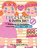 Pumpkin Doll & Outfits Pattern Set 1: Patterns & Printables Featuring Print Cut Sew (Pumpkin Cloth Doll Patterns)